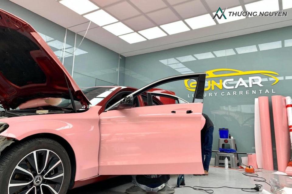Dán Decal xe VinFast Lux A2.0 màu hồng