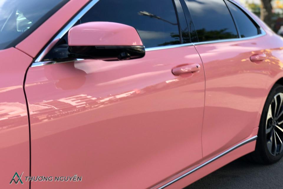 Sơn màu xe vinfast lux a2.0 màu hồng